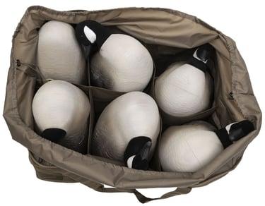 Overhead view of 6 Slot Goose Decoy Bag